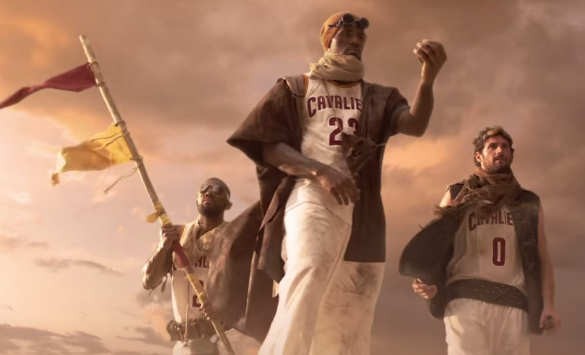 NBA on TNT Promo: LeBron, Kyrie, Kevin Love & Mike Epps (On A Camel) Are On A Quest