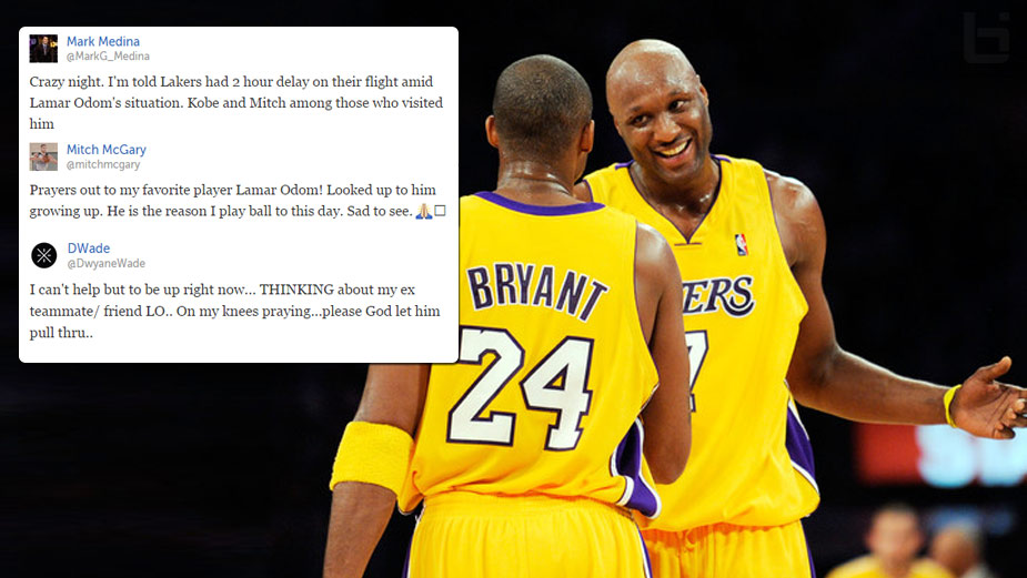 NBA Players & Former Teammates Show Support For Lamar Odom, Reportedly In A Coma