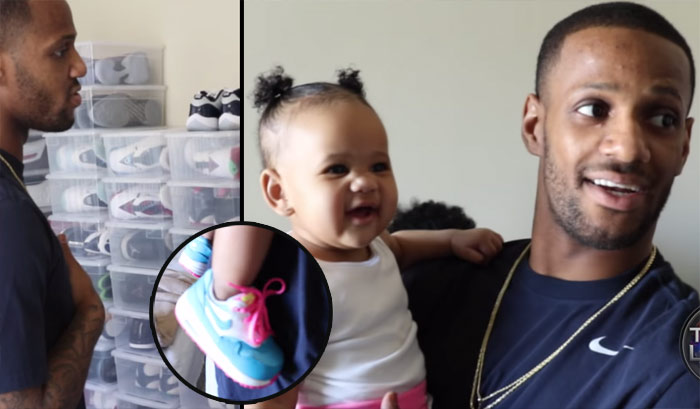 Thru The Lens: Pierre Jackson & His Daughter Show Off His Sneaker Collection