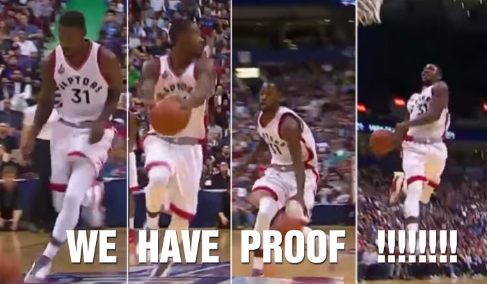 Proof Refs Will Call Travelling On A Wide-Open Dunk