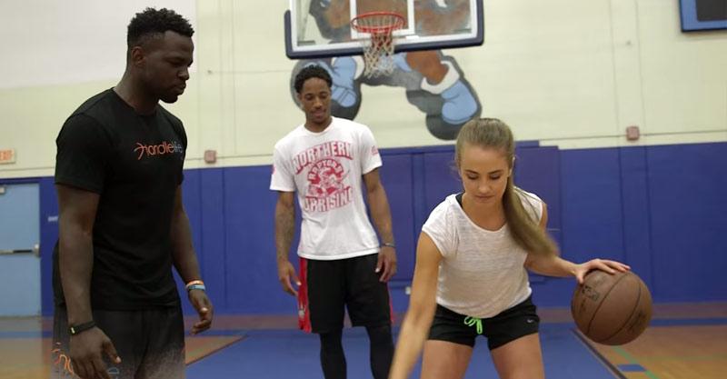 2kTV: Rachel DeMita Works On Her Handles With DeMar DeRozan & NBA Trainer Dribble2Much