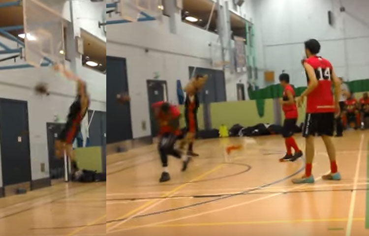 Jack Daley Rips The Rim Off During a NBDL Game