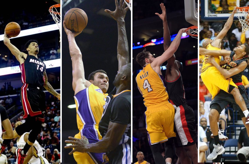 Lakers & the 4-Fingered Assassin Take Over The Top 10 Dunks of the Preseason