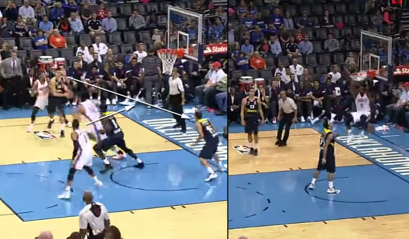Russell Westbrook turns the ball over, steals it back & dunks