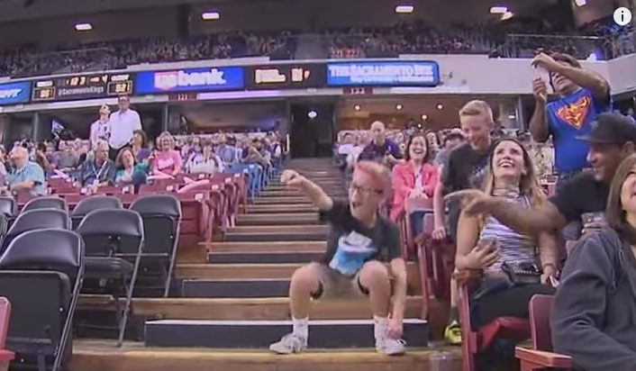 Little Kings Fan Puts On A Great Dance Show During Halftime