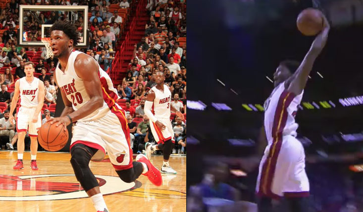 "Justise Winslow 9 points & 1 nice dunk in Heat Debut, Wade says ""He belongs"""