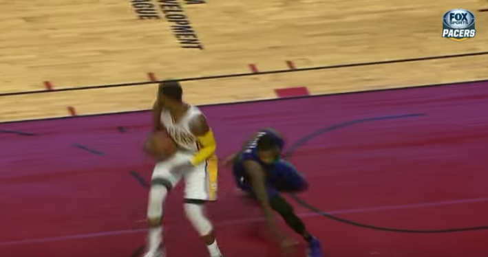 Paul George Spins on Troy Daniels Then Dunks