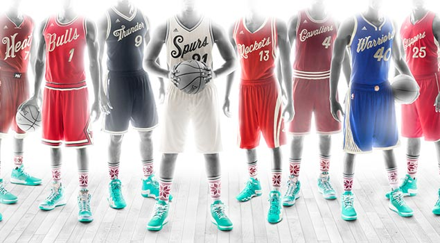 adidas Unveils NBA Xmas Uniforms