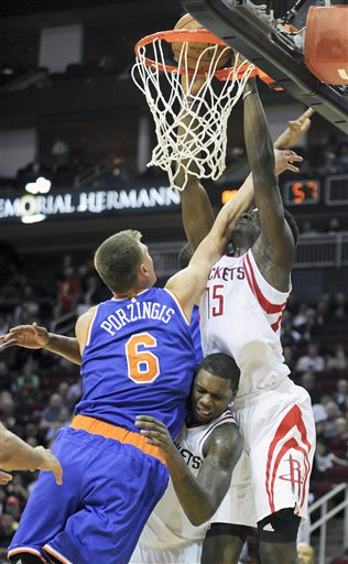 Clint Capela, Kristaps Porzingis, Terrence Jones
