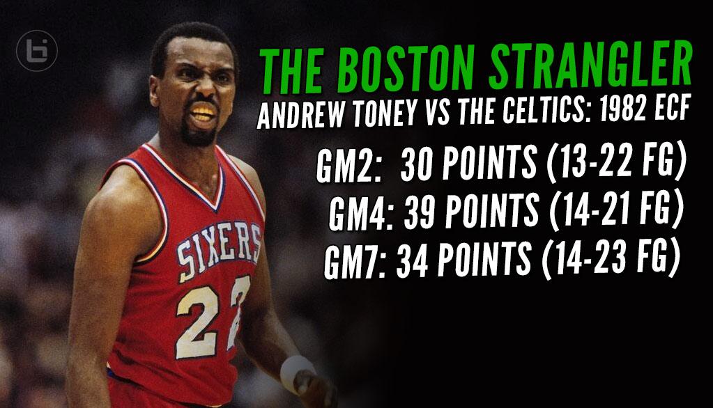 "Flashback (1982) Andrew ""The Boston Strangler"" Toney  Scores 34 in GM7 ECF Vs The Celtics"