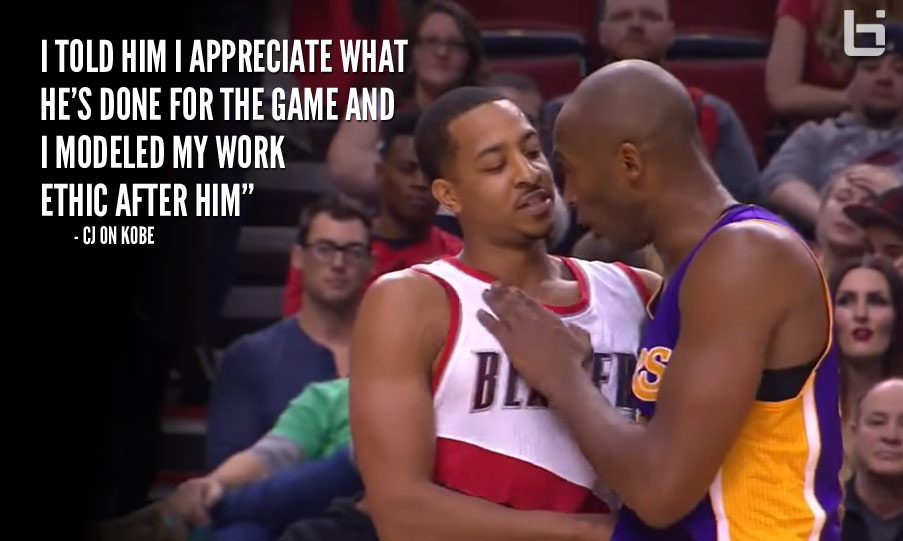 CJ McCollum Pays Respect To Kobe Bryant During The Game