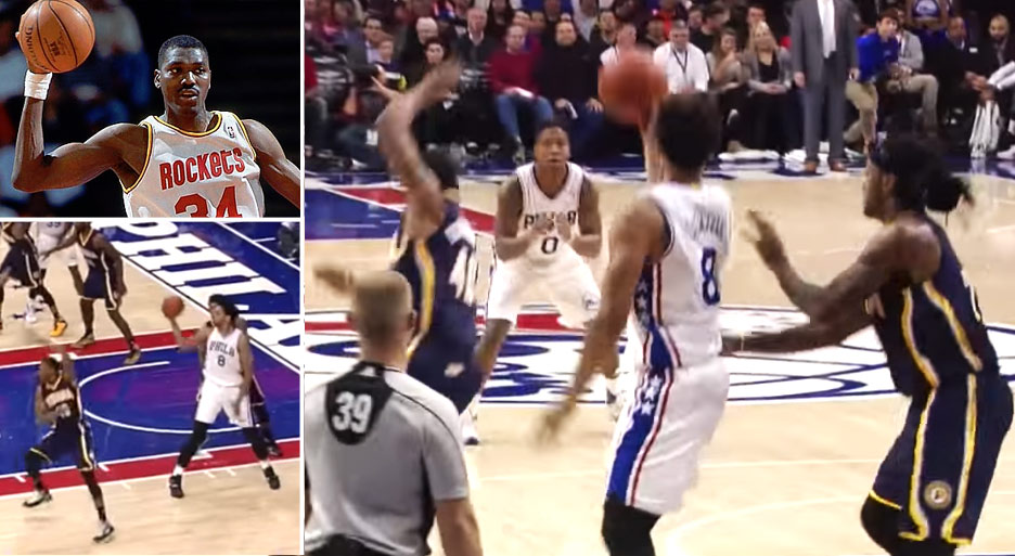 Jahlil Okafor Fakes Out 2 Defenders With A Move Hakeem Would Be Proud Of