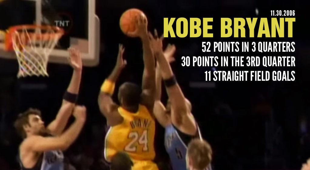 2006: Kobe Bryant Scores 52 In 3 Quarters Vs The Utah Jazz