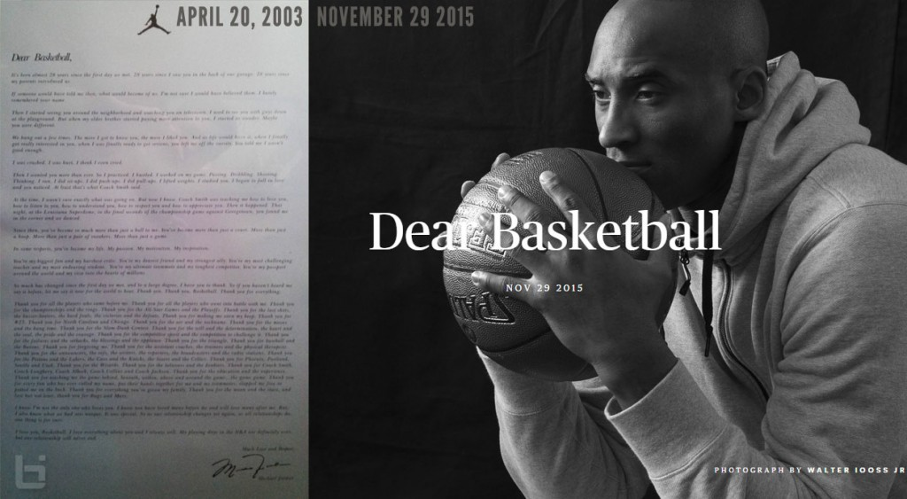 Like Mike To The End: Michael Jordan's 'Dear Basketball' Retirement Letter & Kobe's Letter