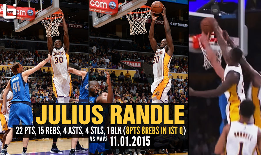 Julius Randle Driving, Dunking, Dishing & Destroying Dallas' Defense