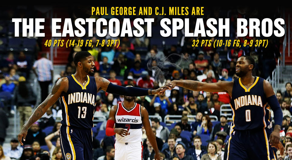 The East Coast Splash Bros Scored 72 Points & Made 15 In-Your-Face 3-Pointers vs the Wizards
