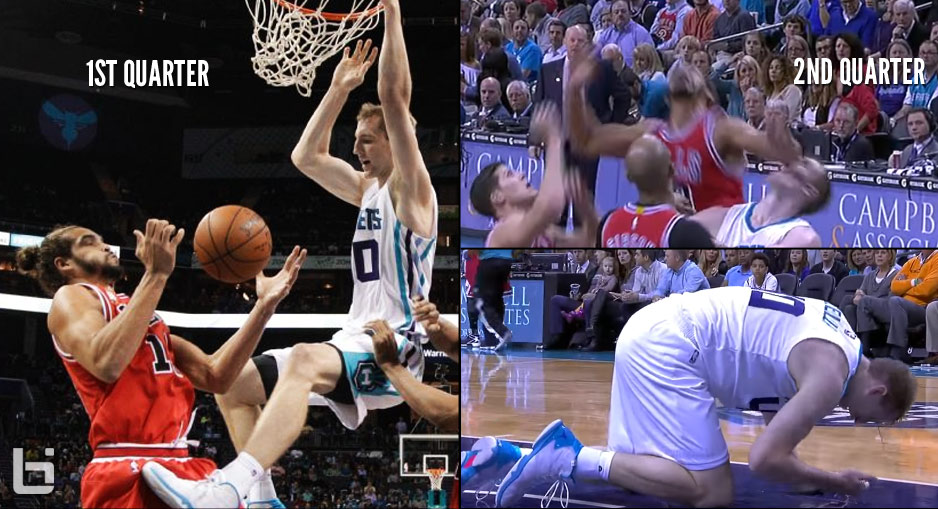 Joakim Noah Gets Dunked On By Cody Zeller, Later Leaves Cody Bloody With An Elbow To The Face