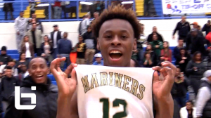 Terell Brown of Moreau Catholic makes game-winning lay-up in win over FAB 50-ranked Sierra Canyon.