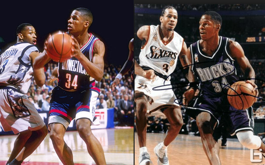 (1996) Allen Iverson   Ray Allen Make Their NBA Debuts Against Each Other 30e49e6ee