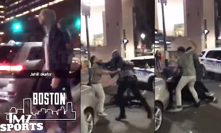 Jahlil Okafor Punches A Man in Boston Who Said The 76ers Suck #SaveJahlil