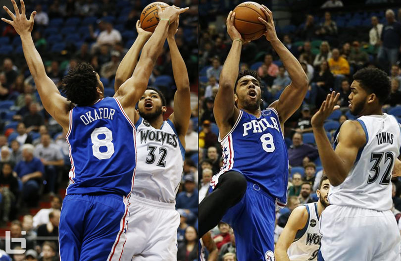 ROY Duel: Jahlil Okafor Dominates Karl-Anthony Towns in 76ers Loss
