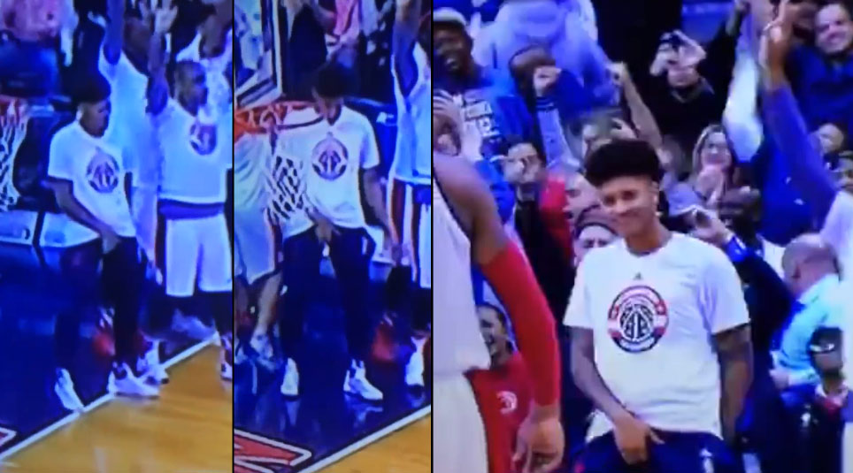 Kelly Oubre Celebrates Bradley Beal's Game-Winner Like MJ…The Other MJ