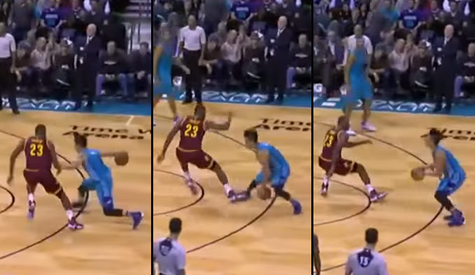 Jeremy Lin Breaks LeBron's Ankles…Then Misses The Shot!