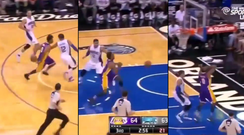 Nick Young Tries To Get Fancy & Loses The Ball Out of Bounds