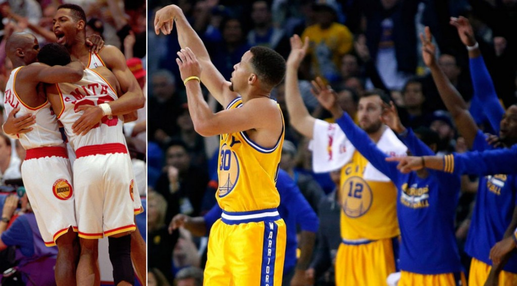 Highlights From The 15-0 Starts By the 1993/94 Rockets & 2015/16 Warriors