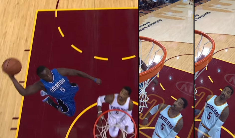 Watch JR Smith Watch Victor Oladipo's Alley-Oop Dunk
