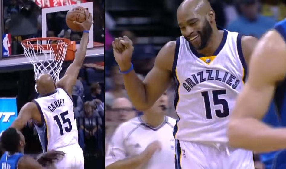 38 Year Old Vince Carter Throws Down His 1st Dunk Of The Season