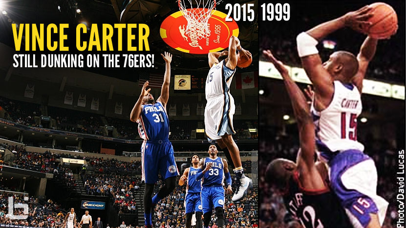 Mean Dunking Vintage Vince Carter Made A Cameo Against The 76ers