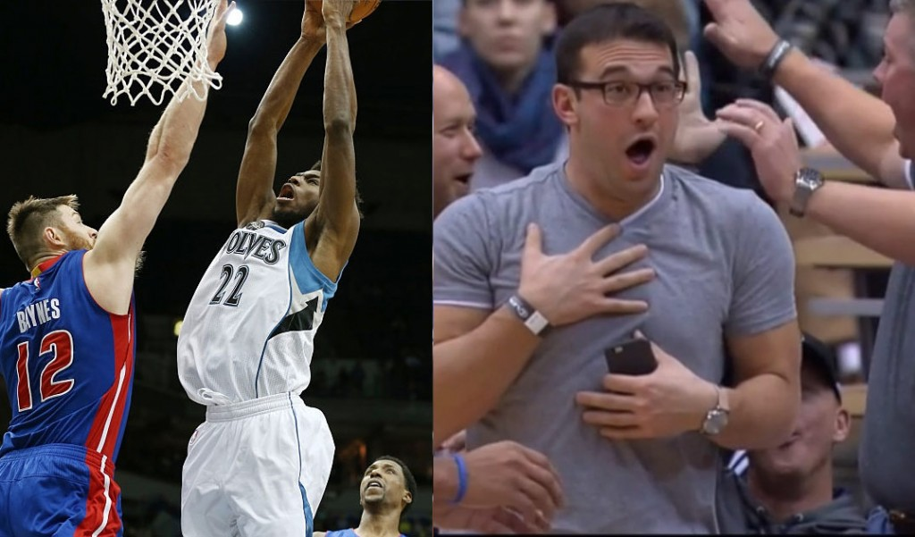 Andrew Wiggins' Dunk on Baynes Left A Fan Breathless