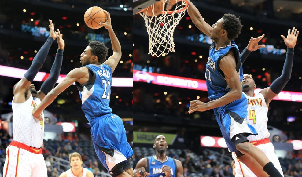 Andrew Wiggins Scores Career-High 33, Posterizes Paul Milsap!