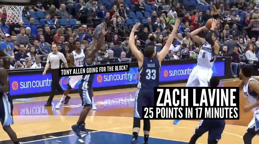 Zach LaVine Scores 25 in 17 Minutes vs Memphis, Back-to-Back 25+ Point Games