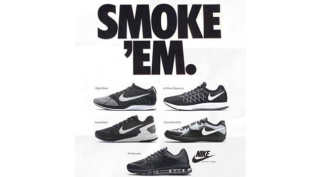 Modern Day Kicks On Vintage Nike Ads