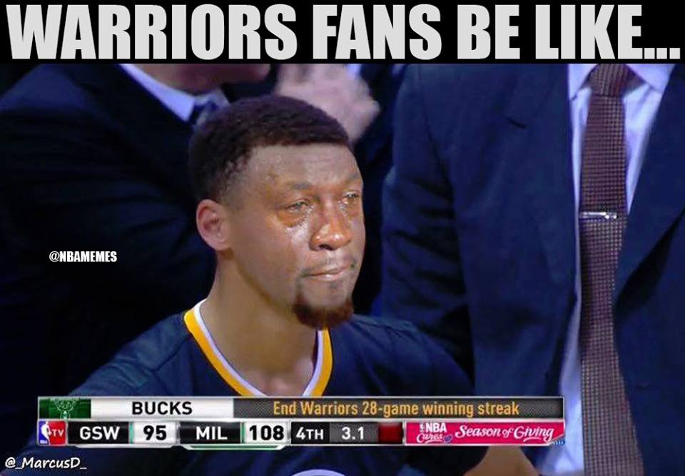 5 Funniest NBA Memes about the Bucks Ending The Warriors Win Streak