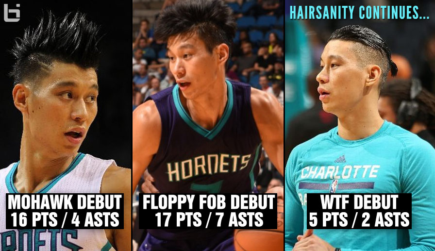Hairsanity: Jeremy Lin Had His Worst New Hairstyle Debut vs the Heat