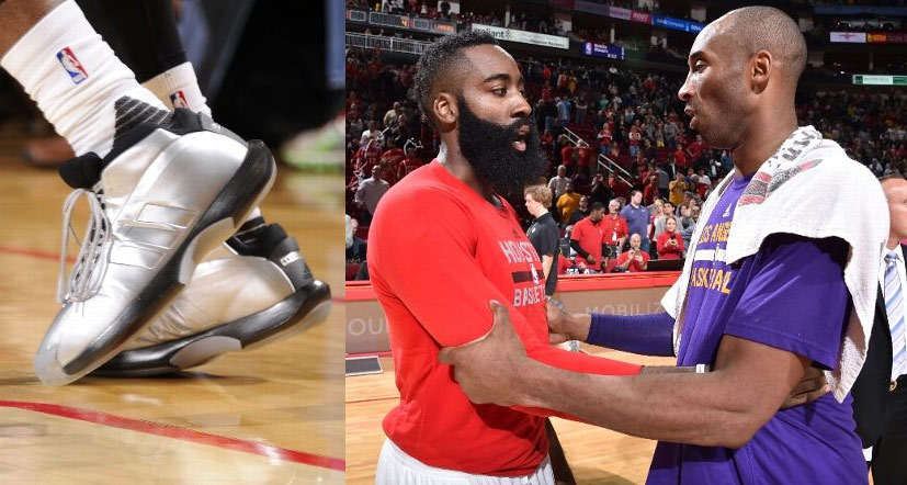 "James Harden Honors Kobe By Wearing Bryant's Adidas Shoes, Calls Him ""Modern Michael"""