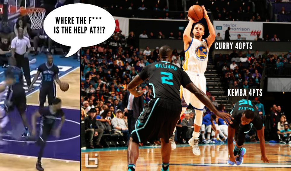 "Kemba Walker Yells ""Where The F*** Is The Help At"" Guarding Steph Curry (28 3rd Quarter Points)"