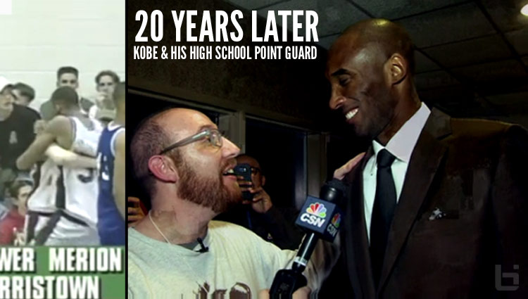 Kobe Bryant's High School Point Guard Hilariously Interviews Kobe After Philly Game