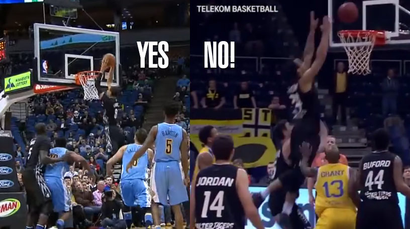 Now This Is How You Properly Dunk A Missed Free Throw w/ Zach LaVine