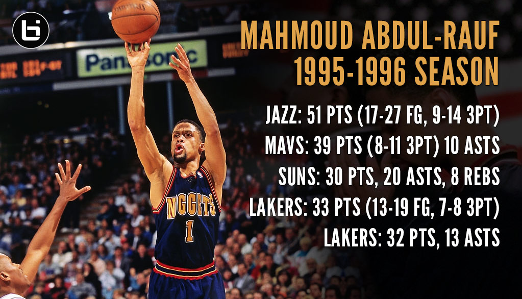 Mahmoud Abdul-Rauf's Unappreciated First Half Of The 1995/96 Season