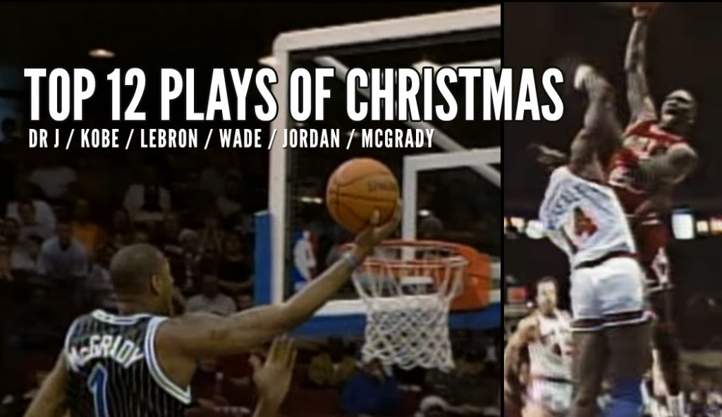 Top 12 Best NBA Plays of Christmas Past w/ Kobe, MJ, Dr J, LeBron & more