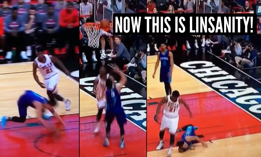 Jeremy Lin Falls, Misses A Wide-Open Layup Then Falls Again After ... Jeremy Lin Dunk In Middle School