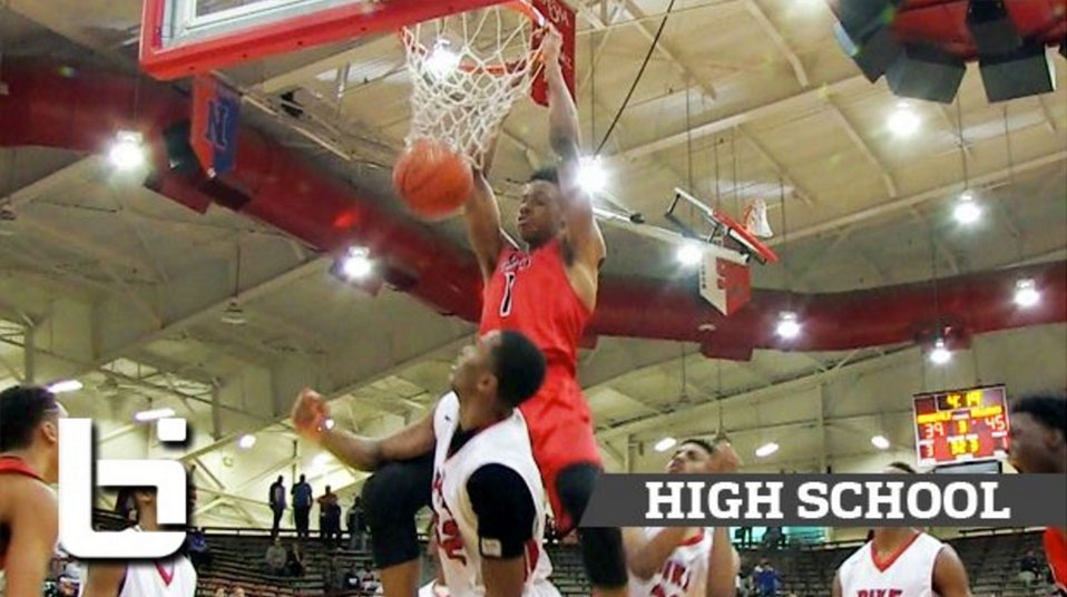 10th grader Romeo Langford Catches a Body on a Tip Dunk at FORUM Tipoff!