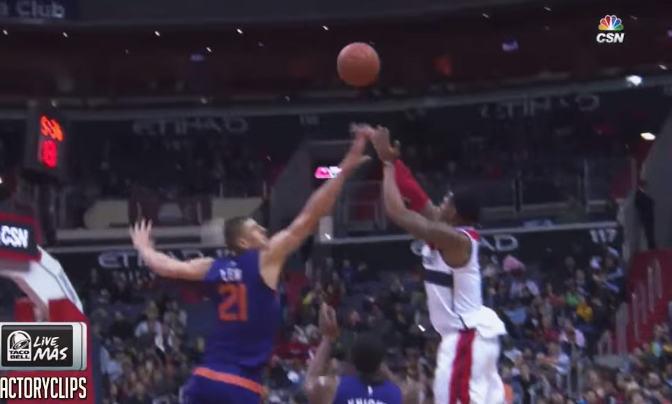 Bradley Beal 34 points, 9 rebounds, 5 3s and 1 reverse dunk vs the Suns