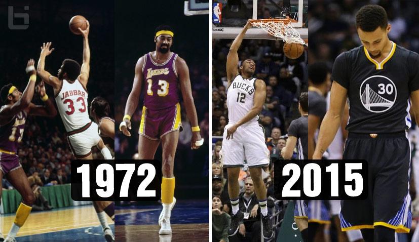 The Bucks Ended the 1972 Lakers Win Streak (33) & the 2015 Warriors Win Streak (28)