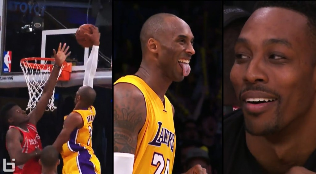 Dwight Howard Laughs After Teammate Clint Capela Gets Dunked On By Kobe Bryant