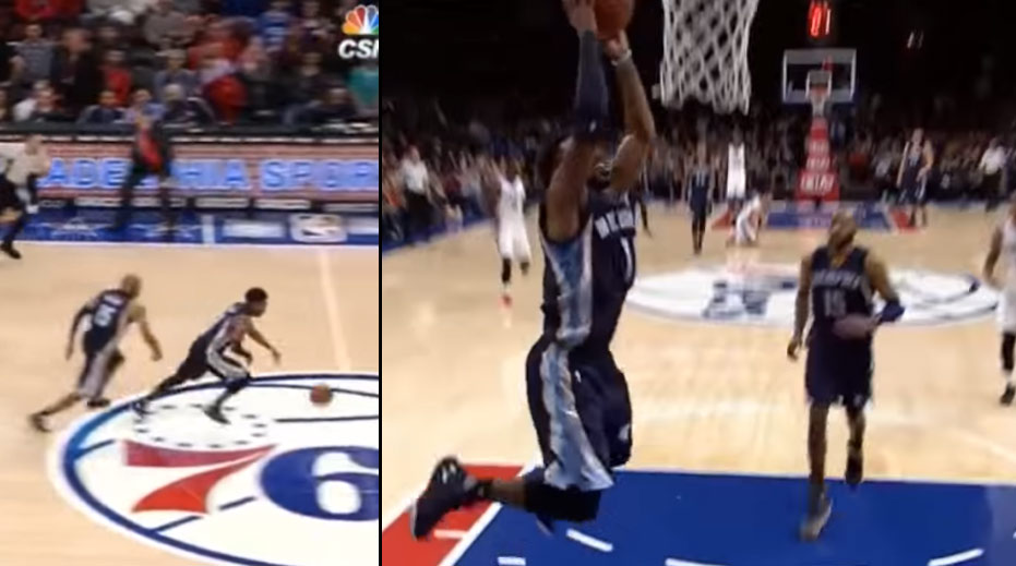 Mike Conley Steals A Highlight From Vince Carter & Throws Down A Rare Dunk!